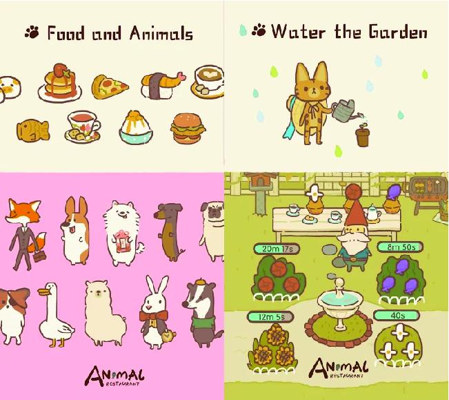 animal and garden in animal restaurant
