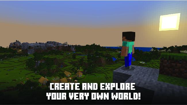 explore the minecraft world